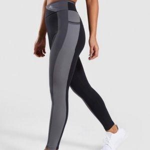 Gymshark Colour Block Grey & Black Leggings XS/S
